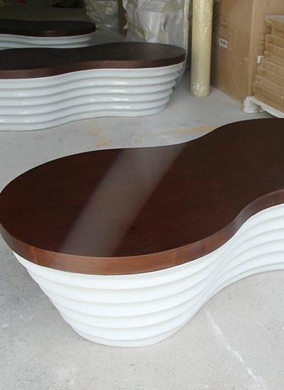 休闲桌玻璃钢外壳加工