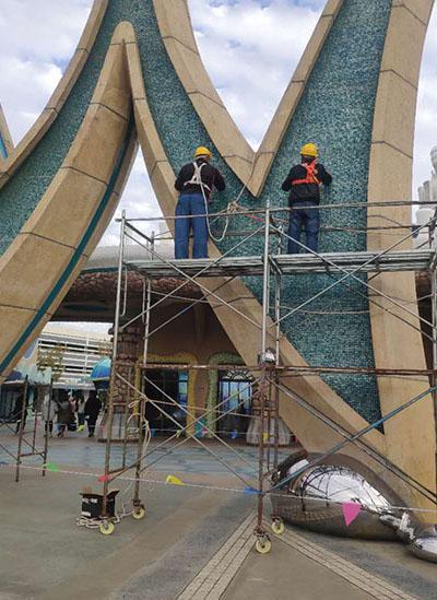 上海海昌海洋公园玻璃钢制品修缮完工