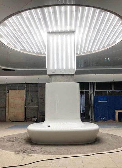 天津中心医院玻璃钢制品安装完工