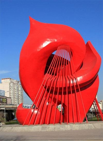 城市中玻璃钢景观雕塑的意义